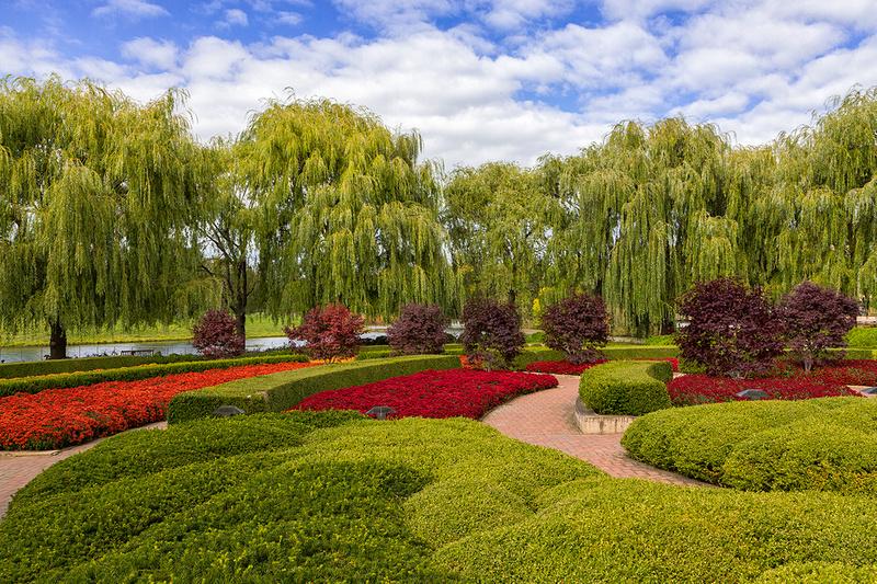 Crescent Garden in Fall