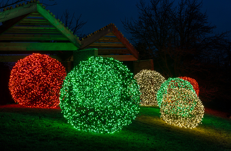 Festive Balls at the Garden